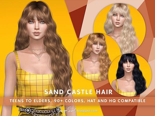 Sand Castle Hair sims 4 cc