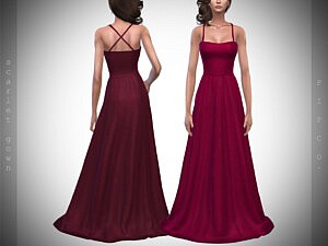 Scarlet Gown sims 4 cc
