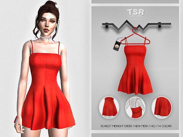 Scarlet Midnight Dress sims 4 cc