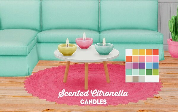 Scented citronella candles sims 4 cc