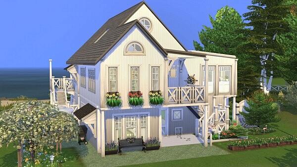 Sea View House sims 4 cc