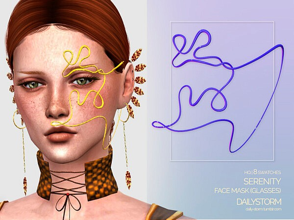 Serenity Face Mask sims 4 cc