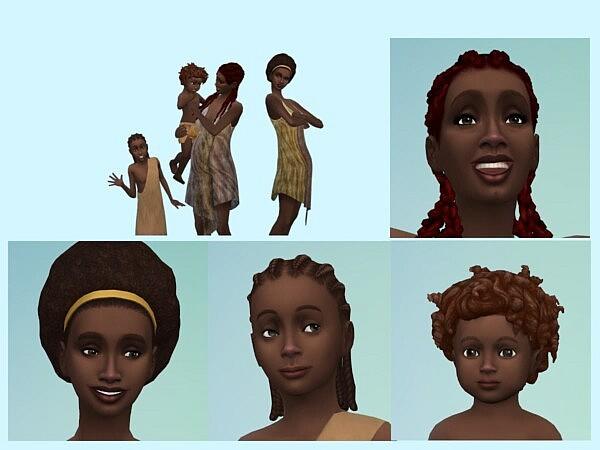 Shanga Baba and her kids sims 4 cc