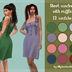 Short sundress with ruffles sims 4 cc
