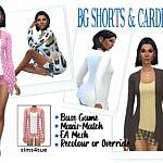 Shorts and Cardigan sims 4 cc