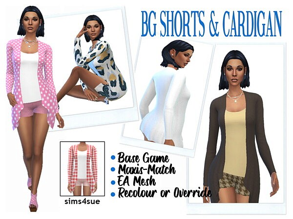 Shorts and Cardigan sims 4 cc from Sims 4 Sue