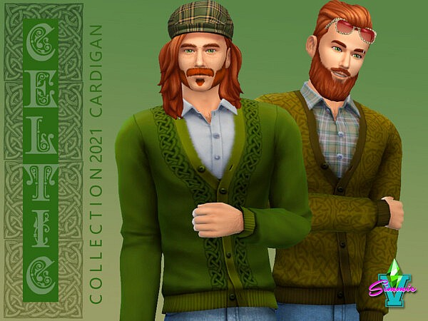 SimmieV Celtic Cardigan sims 4 cc