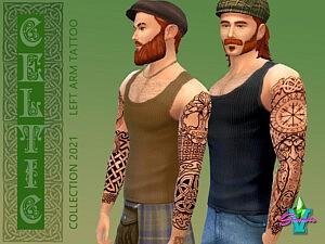SimmieV Celtic Left Arm Tattoo sims 4 cc