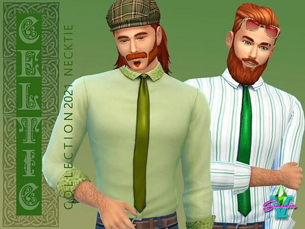 SimmieV Celtic Necktie sims 4 cc