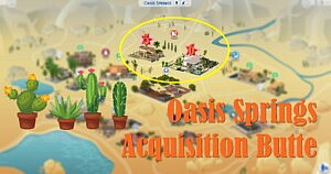 Sims 4 World Oasis Springs Acquisition Butte sims 4 cc