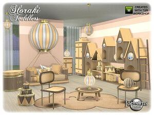 Sloraki toddlers bedroom sims 4 cc