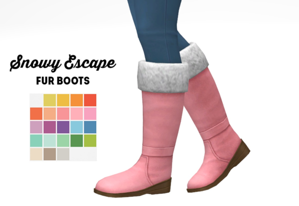 Snowy escape fur boots recolored from LinaCherie