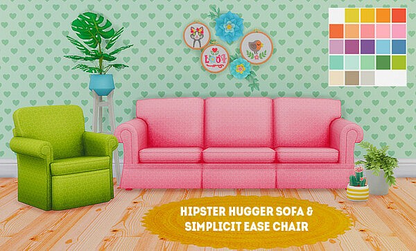 Hippster Hugger Sofa and Simplicit Ease Chair from LinaCherie