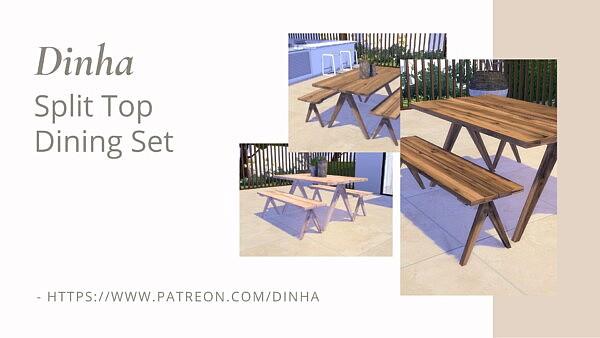 Split Top Dining Set sims 4 cc