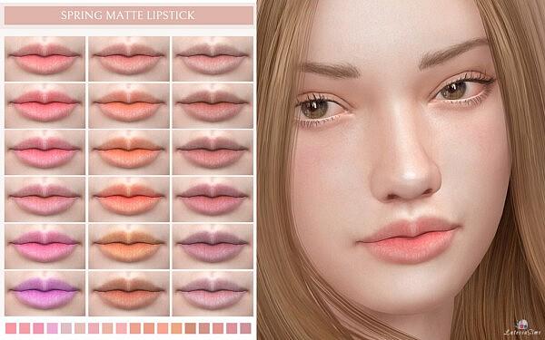 Spring Matte Lipstick sims 4 cc