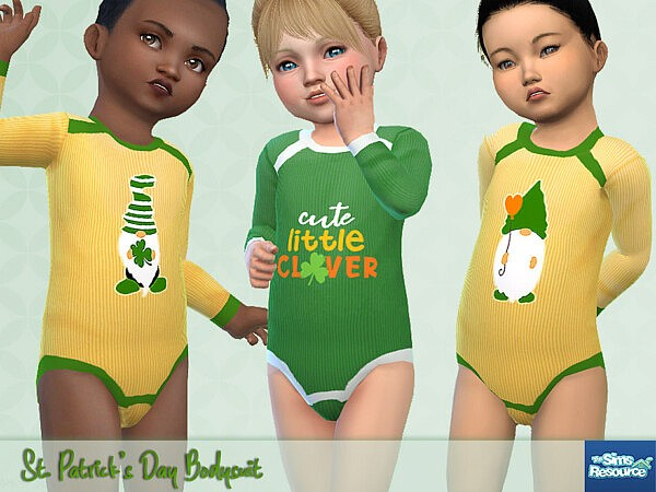 St. Patricks Day Bodysuit sims 4 cc