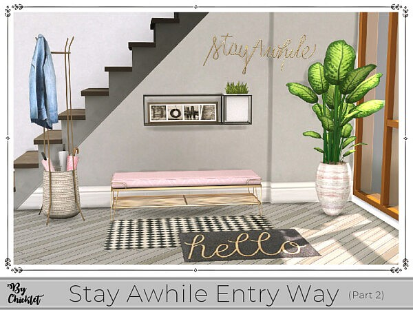 Stay Awhile Entry Way part 2 sims 4 cc