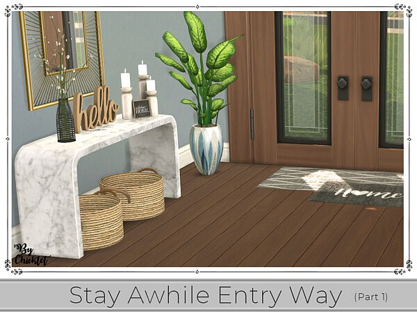 Stay Awhile Entry Way patr 1 sims 4 cc