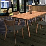 Stelvio Dining Table and Scandi Chair sims 4 cc