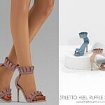 Stiletto Heels Ruffle Sandals sims 4 cc