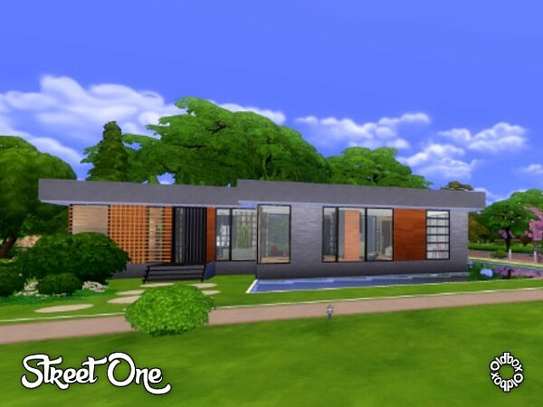 Street One House sims 4 cc