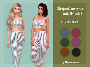 Striped summer suit sims 4 cc