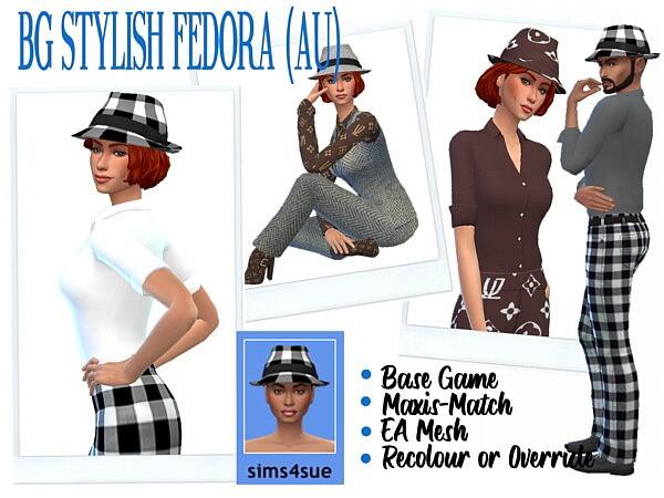 Stylish Fedora sims 4 cc