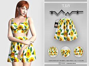 Sunflowers Set 119 Skirt sims 4 cc