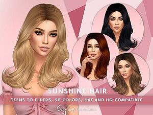 Sunshine Hair sims 4 cc