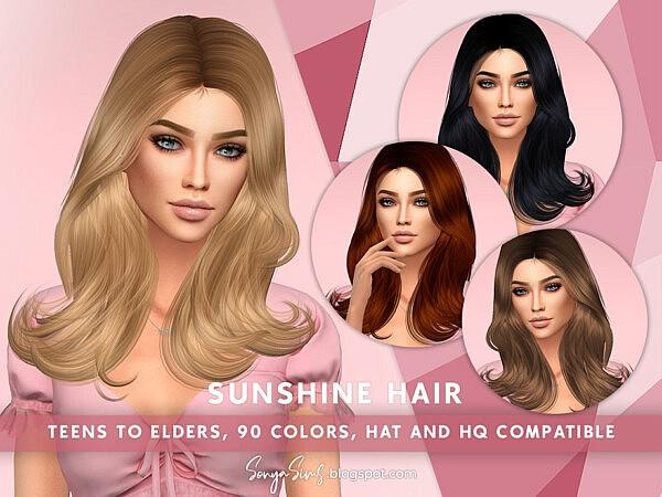 Sunshine Hair by SonyaSimsCC from TSR