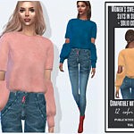 Sweater with slits in sleeves sims 4 cc
