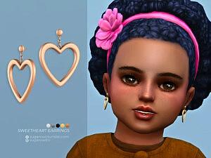 Sweetheart earrings sims 4 cc