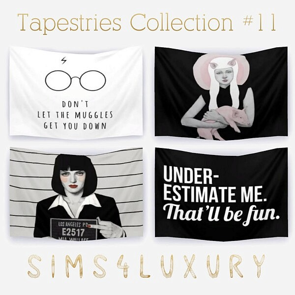 Tapestries Collection 11 sims 4 cc