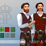 Tartan Vest sims 4 cc