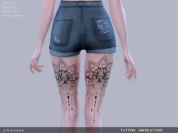 Tattoo Abstraction sims 4 cc