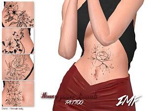 Tattoo Flower Power Stomach sims 4 cc