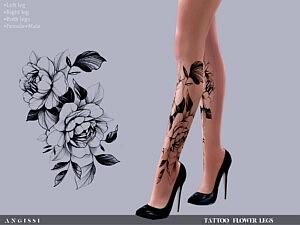 Tattoo Flower legs sims 4 cc