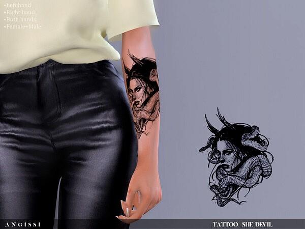Tattoo She devil sims 4 cc