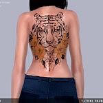 Tattoo Tiger sims 4 cc