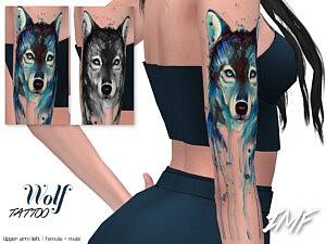 Tattoo Wolf sims 4 cc