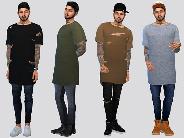 Thrift Long Tees by McLayneSims from TSR