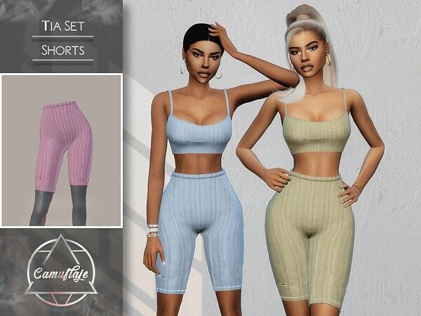 Tia Set Shorts sims 4 cc