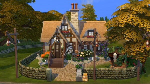 Tiny Witch Cottage sims 4 cc