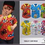 Toddler Shirt RPL 90 sims 4 cc