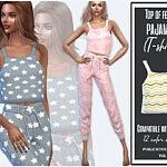 Top of female pajamas sims 4 cc