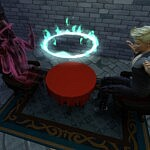 Torn Seance Table sims 4 cc