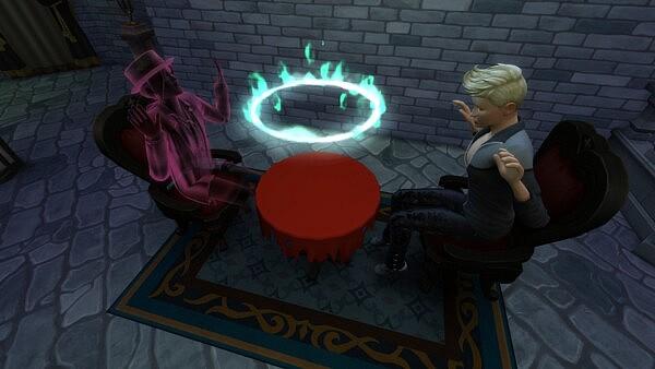 Torn Seance Table sims 4 cc