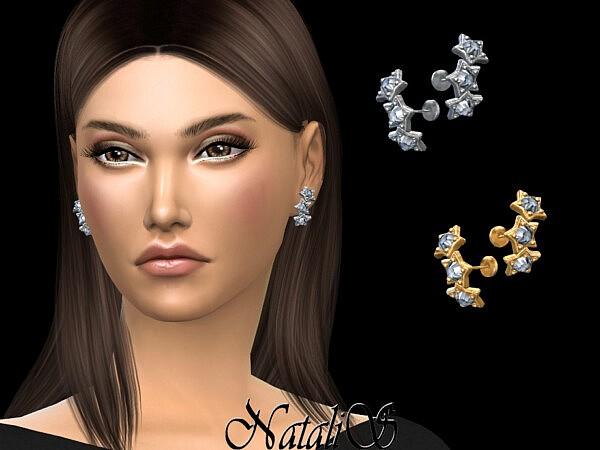 Triple diamond stars earrings by NataliS from TSR