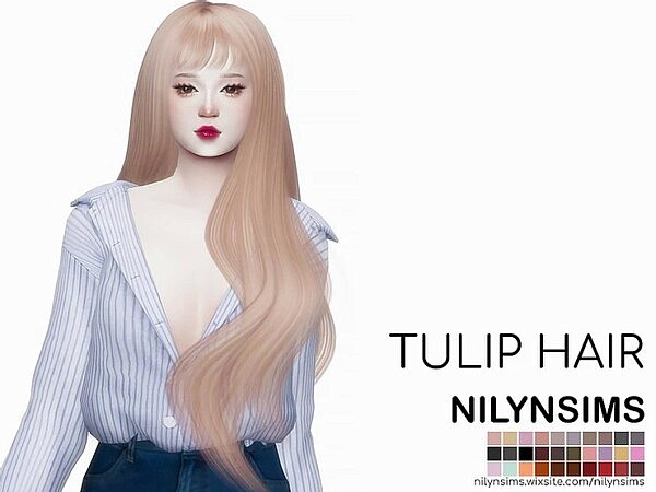 Tulip Hair from Nilyn Sims 4