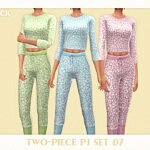 Two Piece PJ Set 07 sims 4 cc